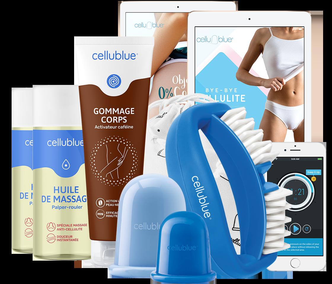 Huile anti cellulite avec ventouse